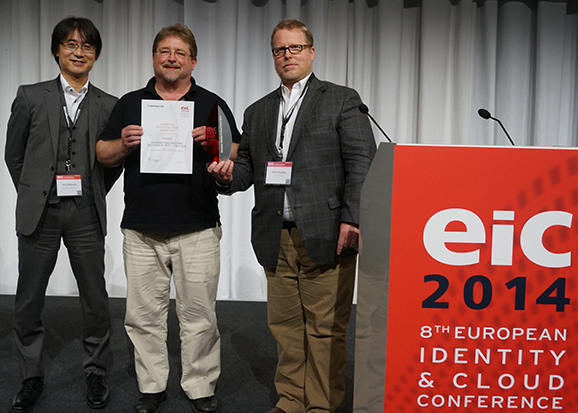 EIC 2014 Award Nat Sakimura, Mike Jones, John Bradley
