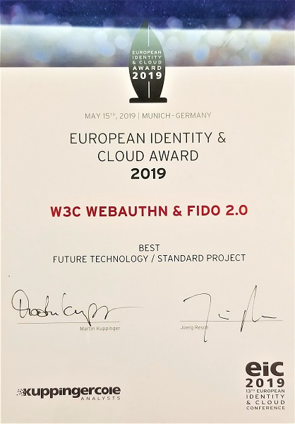 EIC 2019 Award Certificate